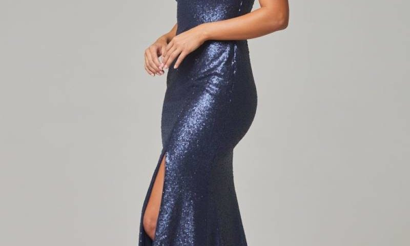 Poseur PO595 Long sequin Dress $390