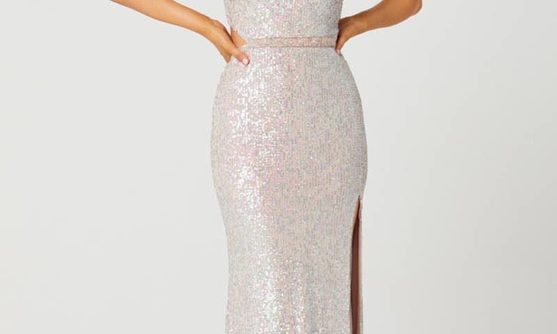 Tania Olsen PO853 Long sequined Dress $390