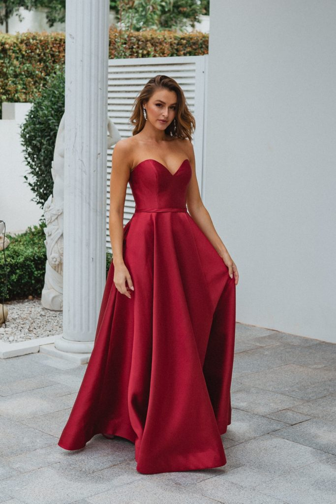 PO895 MEDINA Tania Olsen strapless formal dress $440