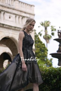 Tinaholy Couture R1780 black cocktail gown $299