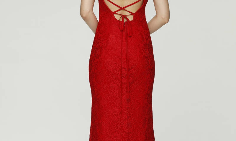 Poseur PO70 Long gown with low back $399
