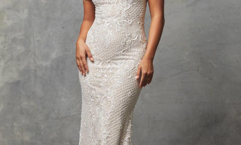 Tania Olsen TC228 NUDE WHITE Bridal Gown/ Wedding Dress/ Ball Gown