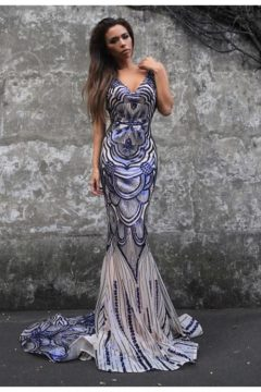 Tinaholy Couture P1732 stunning sequinned dress / gown   $580