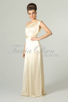 Tania Olsen TO01 Silk Satin one shoulder Wedding dress / evening gown Size 8 WAS $399 NOW 200