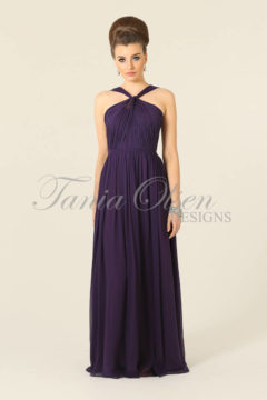 Tania Olsen TO21 Silk Aubergine long dress size 8 WAS $349 NOW $199 LAST ONE