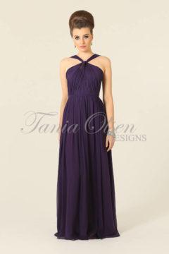 Tania Olsen TO21 Silk Aubergine long dress size 8 $349
