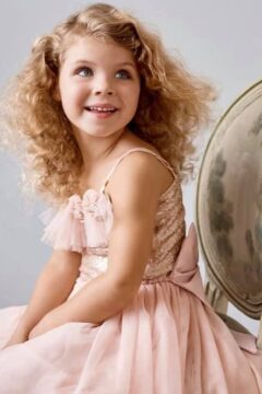 Giselle flower girls dress rose $150