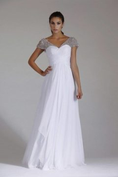 Jadore J3053 Debutante dress  – White wedding dresses size 8 WAS $425 NOW $250