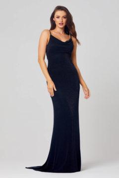 Poseur PO811 long black Evening or Formal dress $350