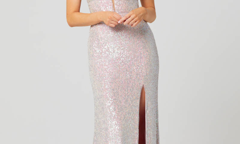 Poseur PO873 long Sequin dress $430