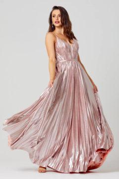 Poseur PO881 Long Sunray pleat Evening or Formal dress $470