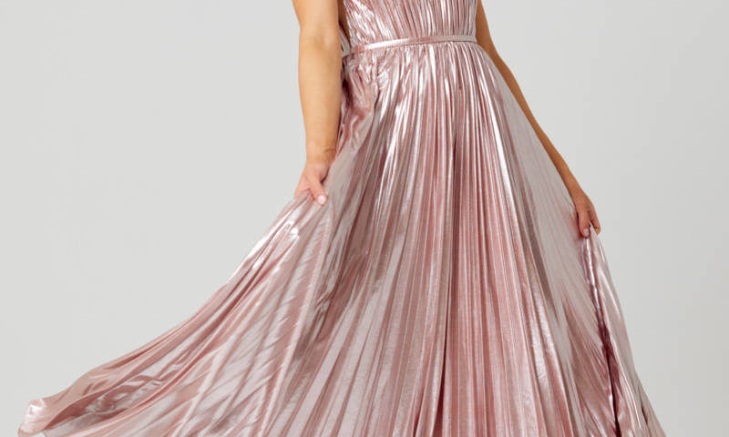 Poseur PO881 Long Sunray pleat Evening or Formal dress $470