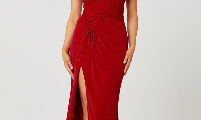 PO884 Tania Olsen Matilda one should long red dress $379