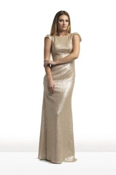 Tinaholy Couture T1601 dress / gown  long sequinned $450